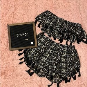BOOHOO Beachwear Coord Set (top + shorts)